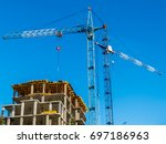 construction of a high rise... | Shutterstock . vector #697186963