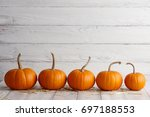 Orange Halloween Pumpkins On...