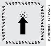 click here vector icon | Shutterstock .eps vector #697192243