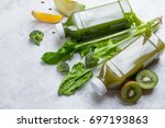 fruit and vegetables smoothie... | Shutterstock . vector #697193863