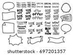 promo banner geometric vector... | Shutterstock .eps vector #697201357
