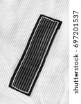 black textile clothes label on...   Shutterstock . vector #697201537