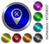 workshop service gps map... | Shutterstock .eps vector #697208257