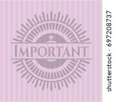 important realistic pink emblem | Shutterstock .eps vector #697208737