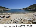 greece  thassos island  quiet... | Shutterstock . vector #697213507