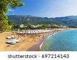 beach in budva  montenegro | Shutterstock . vector #697214143