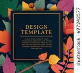 template design square banner... | Shutterstock .eps vector #697242577