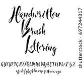 hand drawn elegant calligraphy... | Shutterstock .eps vector #697244317