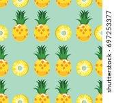 vector of pineapple for... | Shutterstock .eps vector #697253377
