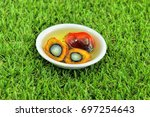 close up of fresh oil palm... | Shutterstock . vector #697254643