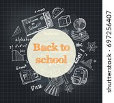 back to school flyer template   ... | Shutterstock .eps vector #697256407
