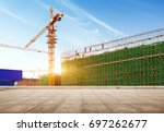 marble platform in front of the ... | Shutterstock . vector #697262677