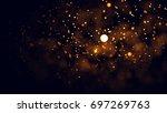 gold abstract bokeh background. ...   Shutterstock . vector #697269763