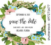 wedding invitation card suite... | Shutterstock .eps vector #697271677