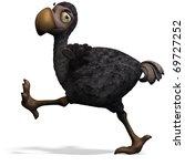 very funny toon dodo bird. 3d... | Shutterstock . vector #69727252