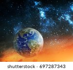 global warming and apocalypse... | Shutterstock . vector #697287343