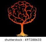 silhouette of tree of life.... | Shutterstock . vector #697288633