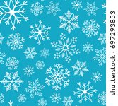 snowflake simple seamless... | Shutterstock .eps vector #697293853