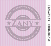 zany realistic pink emblem | Shutterstock .eps vector #697294057