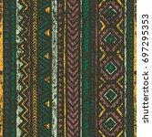 old ethnic seamless pattern.... | Shutterstock .eps vector #697295353