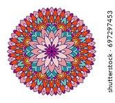 colorful mandala. ethnic tribal ... | Shutterstock .eps vector #697297453