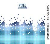 blue pixel background design...
