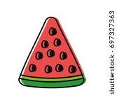 watermelon fruit icon   Shutterstock .eps vector #697327363