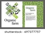 set of templates for cattle... | Shutterstock .eps vector #697377757