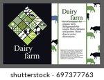 set of templates for cattle... | Shutterstock .eps vector #697377763