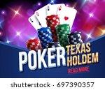 illustration of casino chips ... | Shutterstock .eps vector #697390357