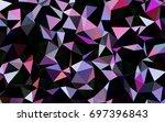 dark pink  blue vector abstract ... | Shutterstock .eps vector #697396843