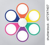 circle infographic template... | Shutterstock .eps vector #697397407