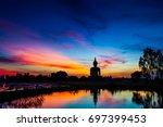 big buddha statue at wat muang...   Shutterstock . vector #697399453