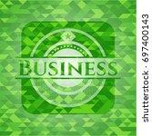 business realistic green emblem.... | Shutterstock .eps vector #697400143