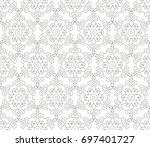 abstract seamless oriental... | Shutterstock .eps vector #697401727