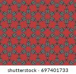 abstract seamless oriental... | Shutterstock .eps vector #697401733