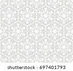 abstract seamless oriental... | Shutterstock .eps vector #697401793