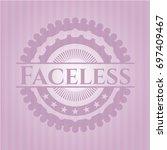 faceless retro style pink emblem | Shutterstock .eps vector #697409467