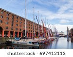 clipper fleet lined up in the... | Shutterstock . vector #697412113