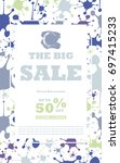 sale cards and banners for... | Shutterstock .eps vector #697415233