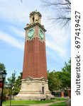 carrie tower is the landmark in ... | Shutterstock . vector #697419427