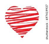 grunge hand drawn brush stroke... | Shutterstock .eps vector #697419937
