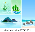 nature's beauty   mountain ... | Shutterstock .eps vector #69742651