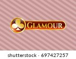 gold badge or emblem with...   Shutterstock .eps vector #697427257