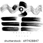 set of ink strokes  drawing... | Shutterstock .eps vector #697428847