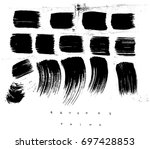 set of ink strokes  drawing... | Shutterstock .eps vector #697428853