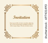 vector decorative element for... | Shutterstock .eps vector #697431493