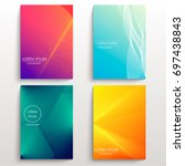 set of cards with blend liqud... | Shutterstock .eps vector #697438843