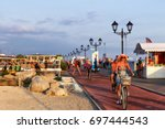 sochi  russia   august 08 ... | Shutterstock . vector #697444543