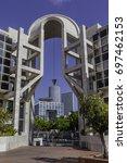 azrieli buildings and hakirya... | Shutterstock . vector #697462153